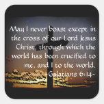 6:14 de Galatians Colcomanias Cuadradass