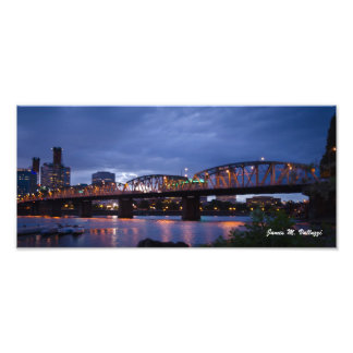 6.17 x 13.97 Hawthorne Bridge Portland, Oregon Photo Print