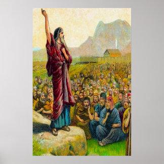 6:1 de Deuteronomy - 9 aman y obedecen el poster d
