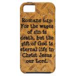 6:23 de los romanos: Metal oxidado Barely There 4 iPhone 5 Case-Mate Protectores
