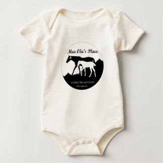 6-24 meses - B y el lugar del Ola del Mea del logo Traje De Bebé