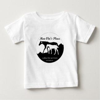 6-24 Months - B & W Logo Mea Ola's Place Baby T-Shirt