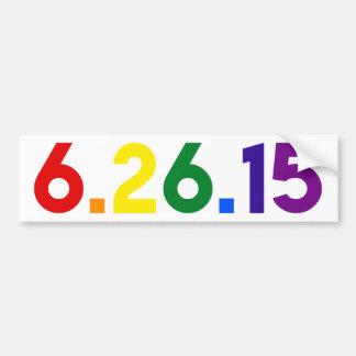 6.26.15 EL MATRIMONIO HOMOSEXUAL DEL DÍA ERA LOS PEGATINA PARA AUTO