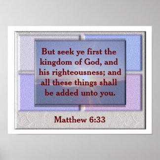 6:33 de Matthew Póster