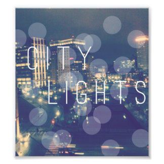 "6.39"" x 7.12"" Edit Print: City Lights Photo Print"