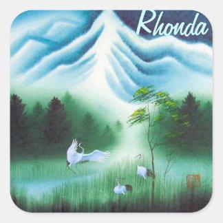 6 3x3 Nameplates w Vintage image of Nature & Birds Stickers