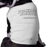6:5 de DEUTERONOMY Camiseta De Mascota