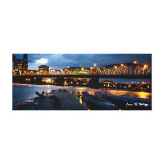 6.5 x 16.5 Hawthorne Bridge Portland, Oregon Canvas Prints