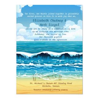 "6.5 x 8.75"" Beach Waves Wedding Invitation"