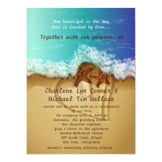 "6.5 x 8.75"" Beach Wedding Invitation 6.5"" X 8.75"" Invitation Card"