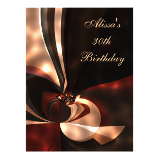 """6.5"""" x 8.75"""" Birthday Party Abstract Art Personalized Invite"""