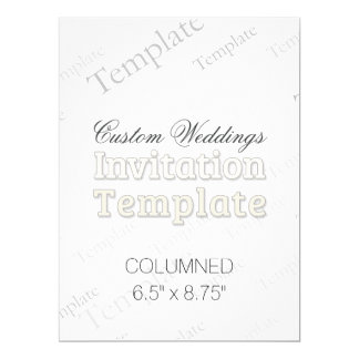 "6.5"" x 8.75"" Columned Custom Wedding Invitation"