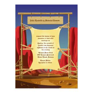 """6,5 x 8,75"""" invitación del oeste salvaje del boda"""