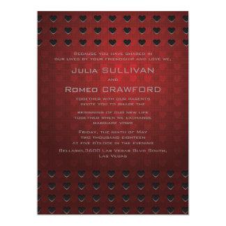 "6.5 x 8.75"" Red Elegant Modern Simple Plain 6.5x8.75 Paper Invitation Card"