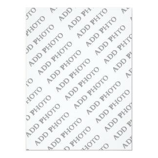 6.5 x 8.75 RSVP Invitation Flat Card Add Own
