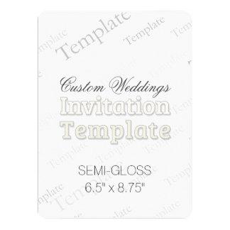 "6.5"" x 8.75"" Semi Gloss Custom Wedding Invitation"