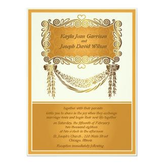 "6.5 x 8.75"" Vintage Wedding Invitation 6.5"" X 8.75"" Invitation Card"