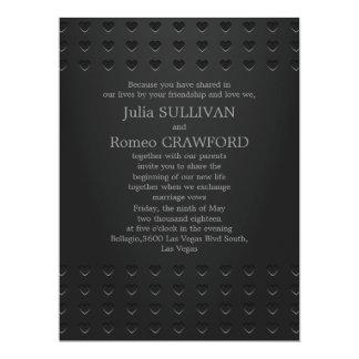 "6.5x8.75"" Black Elegant Modern Simple Plain 6.5x8.75 Paper Invitation Card"