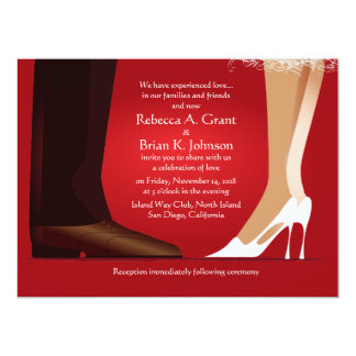 "6.5x8.75"" Bride & Groom First Dance Modern Invite"