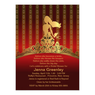 """6.5x8.75"""" Bride Princess Golden Crown Invitation 6.5"""" X 8.75"""" Invitation Card"""