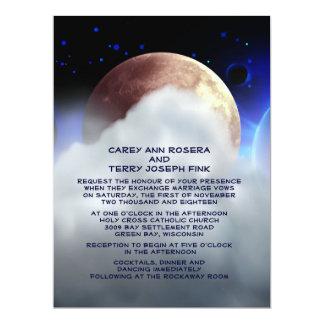 "6.5x8.75"" Deep Space Planets Wedding Invitation"