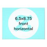 6.5x8.75 horizontales invitan invitación 16,5 x 22,2 cm