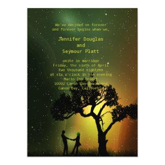 "6.5x8.75"" Midnight Moonlight Couple Dance Invition Card"