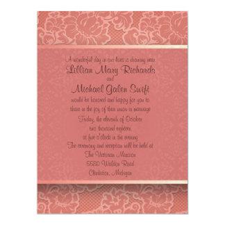 "6.5x8.75""  Pink Floral Flower Wedding Invitation"