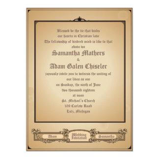 "6.5x8.75 Simply Minimal Vintage Wedding Invitation 6.5"" X 8.75"" Invitation Card"