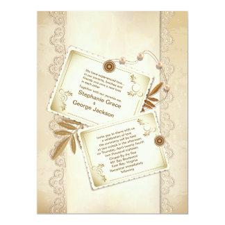 "6.5x8.75"" Vintage Elegant Grunge Wedding Invitatio 6.5x8.75 Paper Invitation Card"