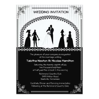 "6.5x8.75"" Vintage Wedding Scene Wedding Invitatio 6.5x8.75 Paper Invitation Card"