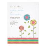"6.5x8.75 Wedding Rainbow Tall Flowers Invitation 6.5"" X 8.75"" Invitation Card"