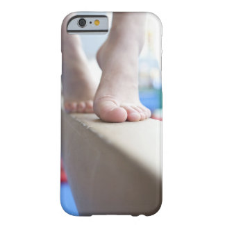 6-7 year old girl slowly walks across balance barely there iPhone 6 case