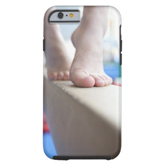 6-7 year old girl slowly walks across balance tough iPhone 6 case