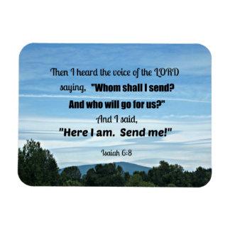6:8 de Isaías entonces oí la voz del señor Imanes Rectangulares