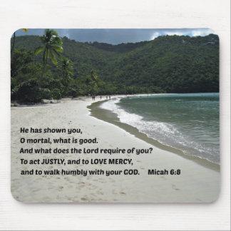 6 8 de Micah él le ha mostrado mortal de O … Alfombrilla De Ratón
