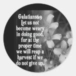 6:9 DE LA ESCRITURA GALATIANS DE LA BIBLIA PEGATINAS