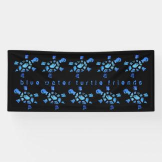 6' amigos de x2.5 de las tortugas del agua azul lona