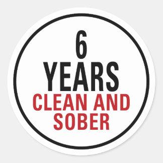6 años limpian y calman pegatina redonda