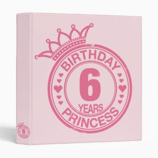 """6 años - princesa del cumpleaños - rosa carpeta 1"""""""