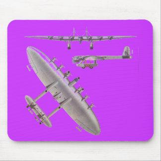 6 aviones de viajero del motor tapete de raton