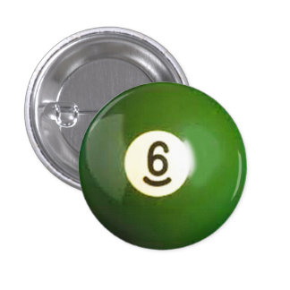 """6 ball"" pool ball design gifts and products button"