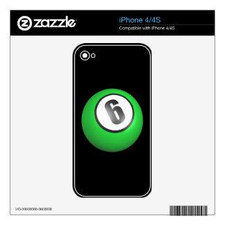 6 Ball iPhone 4S Skin