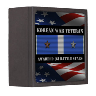 6 BATTLE STARS KOREAN WAR VETERAN GIFT BOX