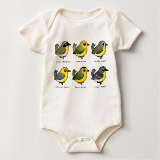 6 Birdorable Warblers Baby Bodysuit
