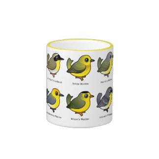 6 Birdorable Warblers Coffee Mugs