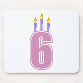 6 Birthday Candles (Pink / Purple) Mouse Pad
