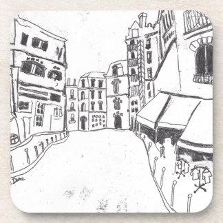 6 Bis Rue du Cloitre Notre Dame Paris Beverage Coaster