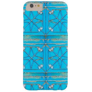 6+ Blue Door Rusty vintage Steel Metal Door Barely There iPhone 6 Plus Case