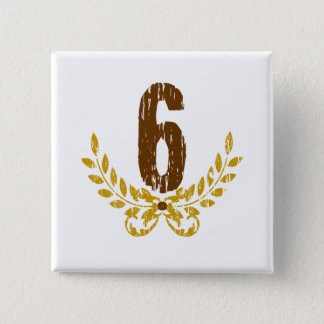 #6 Brown & Gold Wreath Button